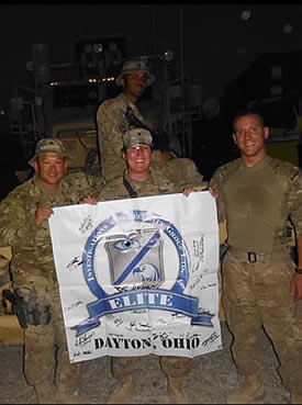 Elite ISG Banner in Afghanistan with our Troops